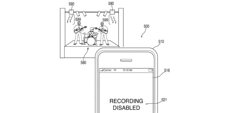 Apple vill blockera din mobilkamera när du är på konsert.