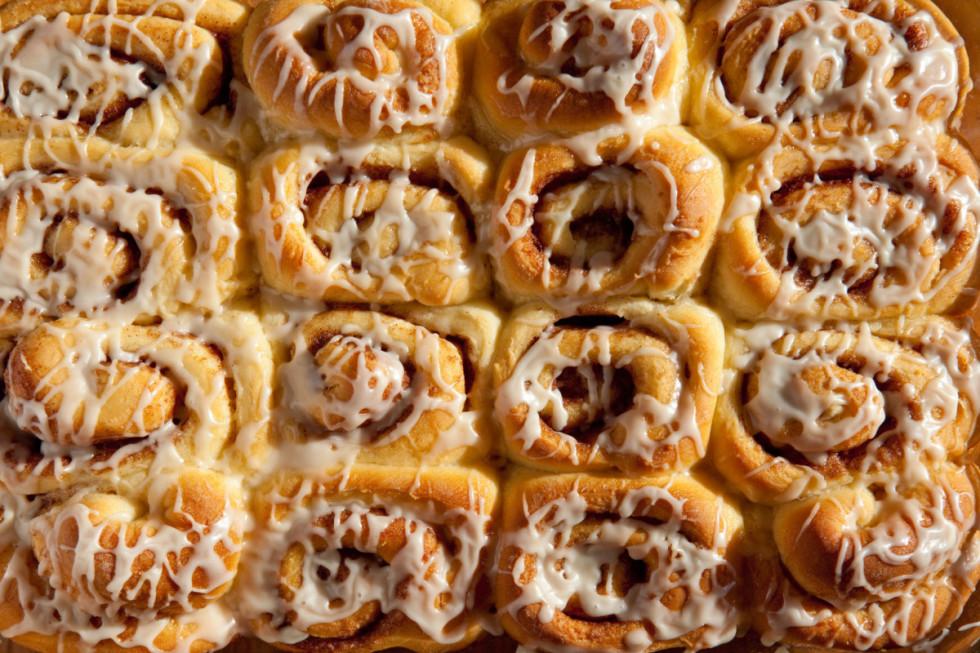 Cinnamon rolls är superpopulärt i USA, och äts till och med i vissa fall som frukost!