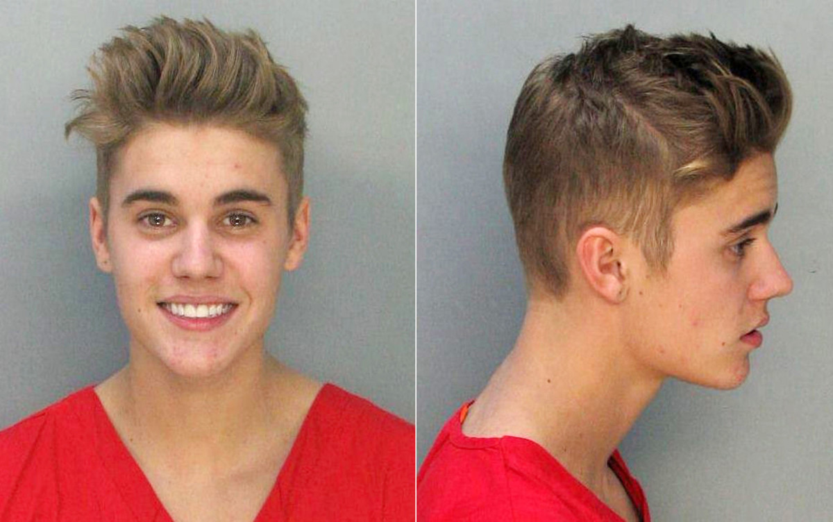 Justin Bieber arrested for DUI, Miami Beach, Florida - 23 Jan 2014