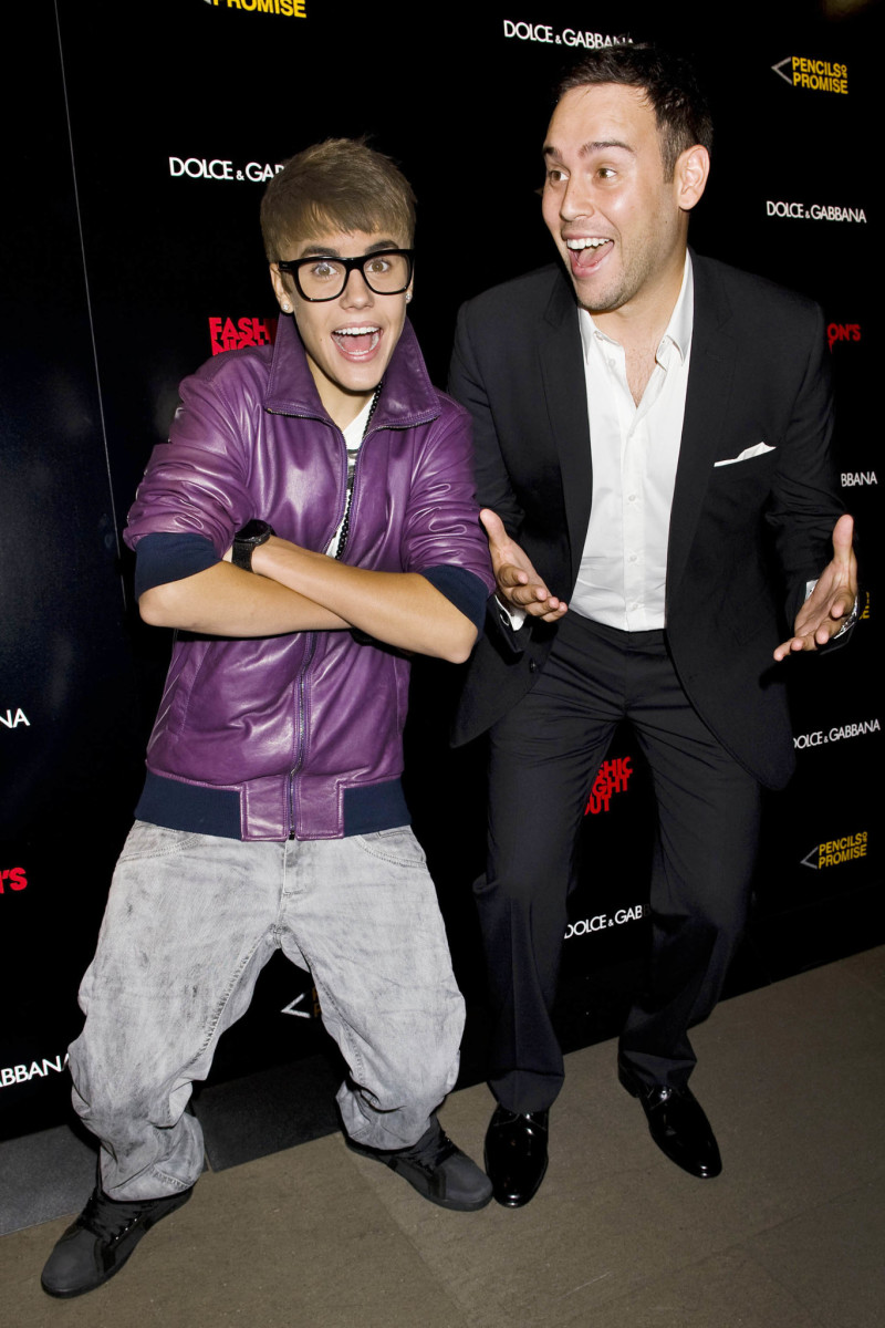 Justin Bieber Attends the Dolce & Gabbana Fashion's Night Out Celebration