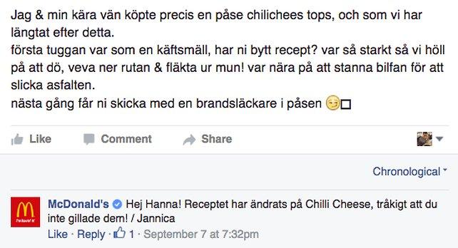 chili cheese nytt recept