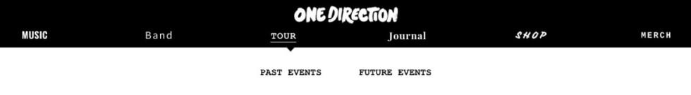 """Fliken """"Future events"""" låg bredvid """"Past events""""."""