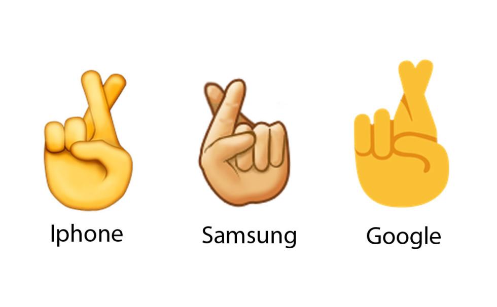 Emojisar-fingrar