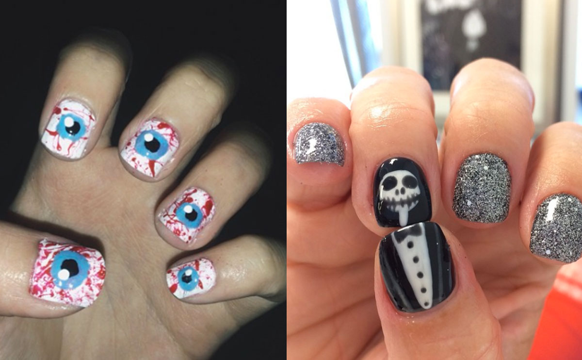 Halloween-naglar-inspiration