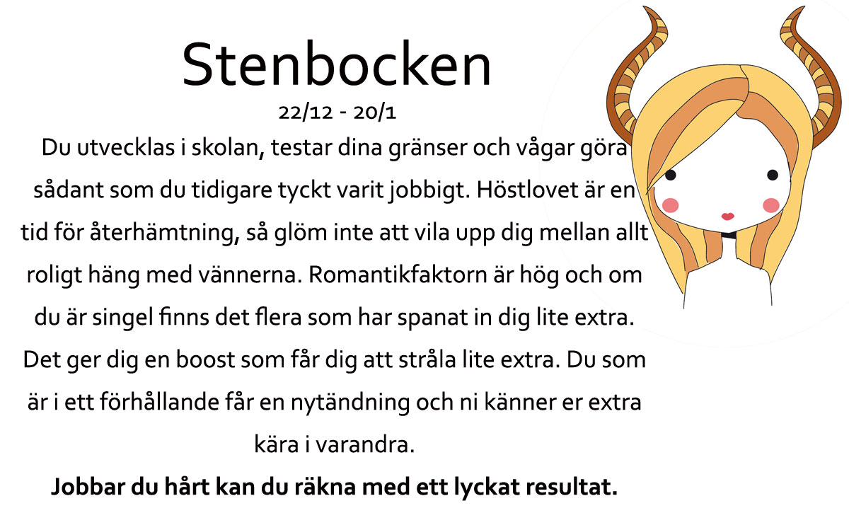 Stenbocken-Horoskop-oktober