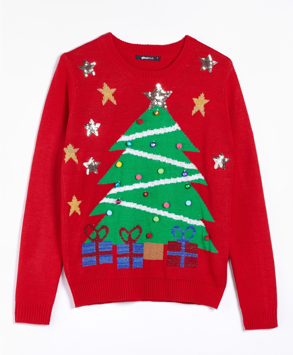 Jultroja-med-julgran-ginatricot