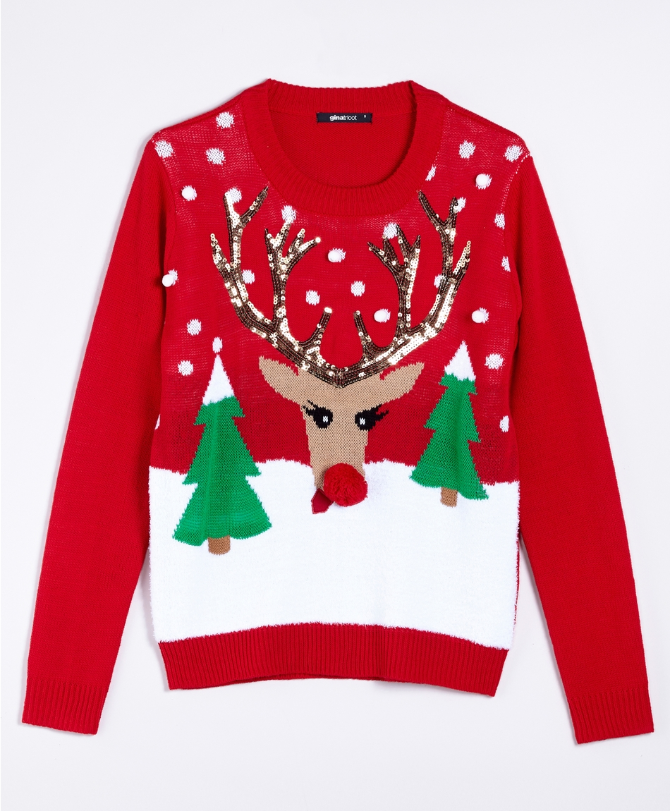 Rolig-Jultroja-Gina-Tricot-Rudolf