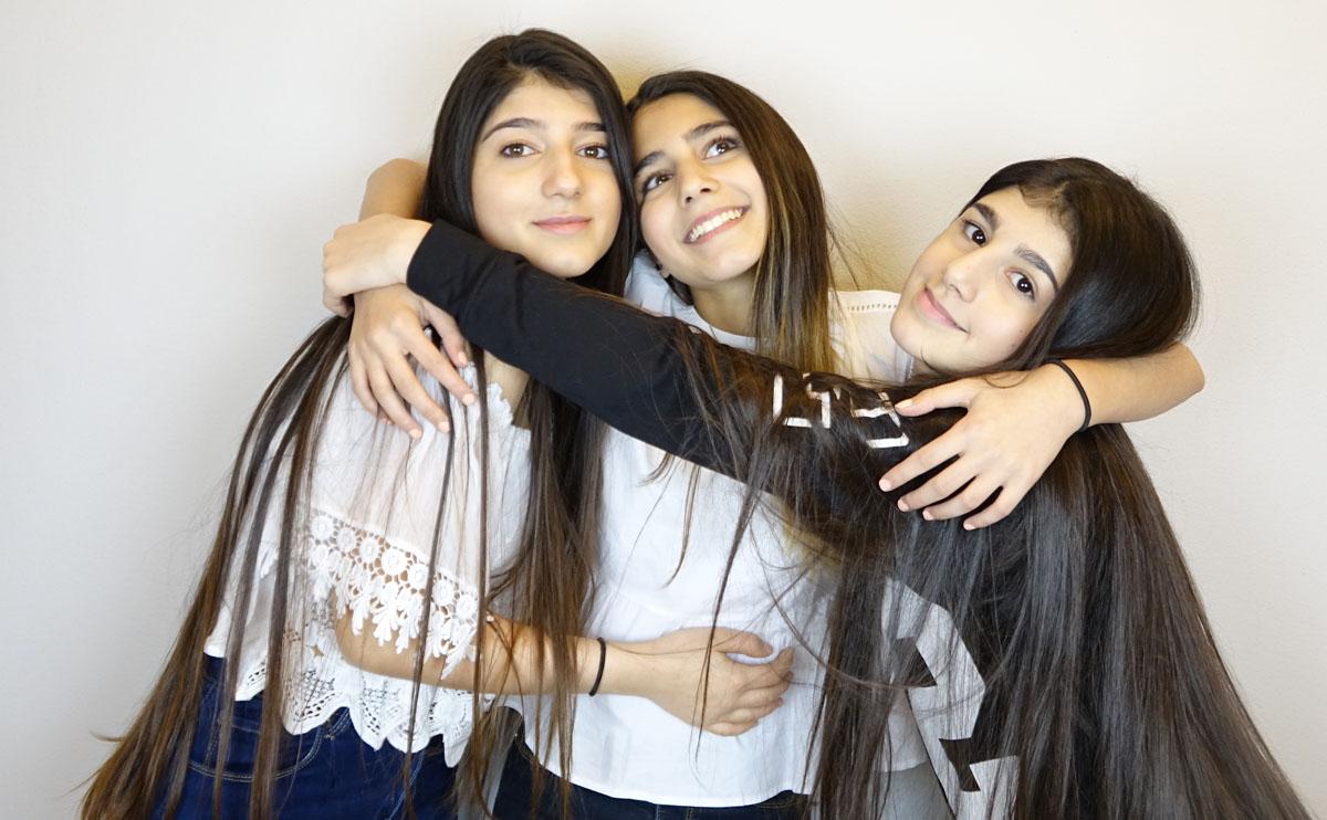 Narin, Sherin och Cedra driver alla varsin stor youtube-kanal på arabiska.