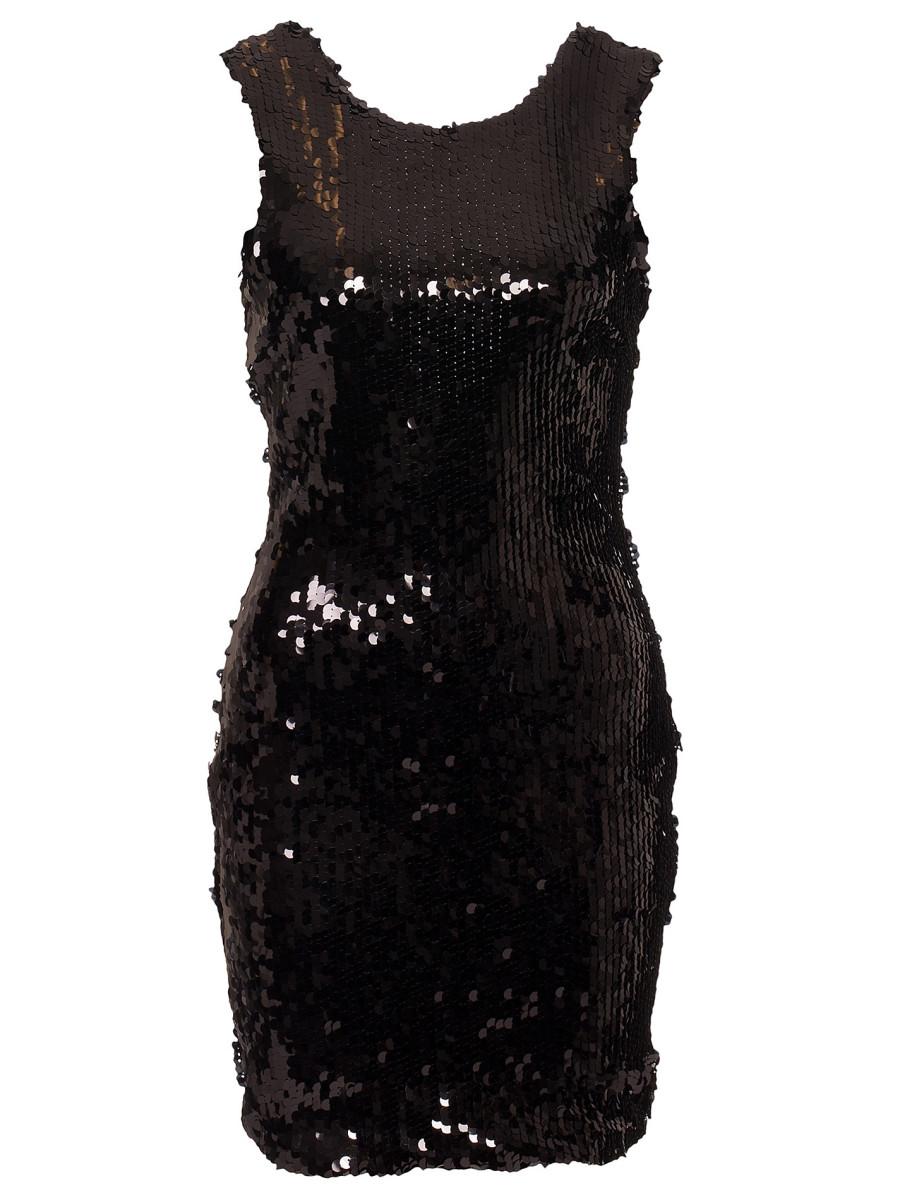 svart klänning paljetter