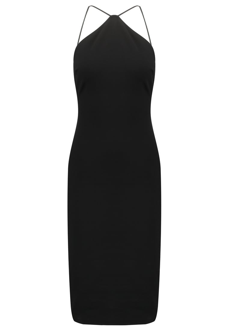 svart klänning smala axelband