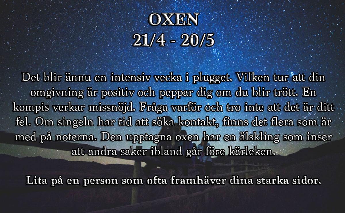 horoskop-vecka-5-oxen