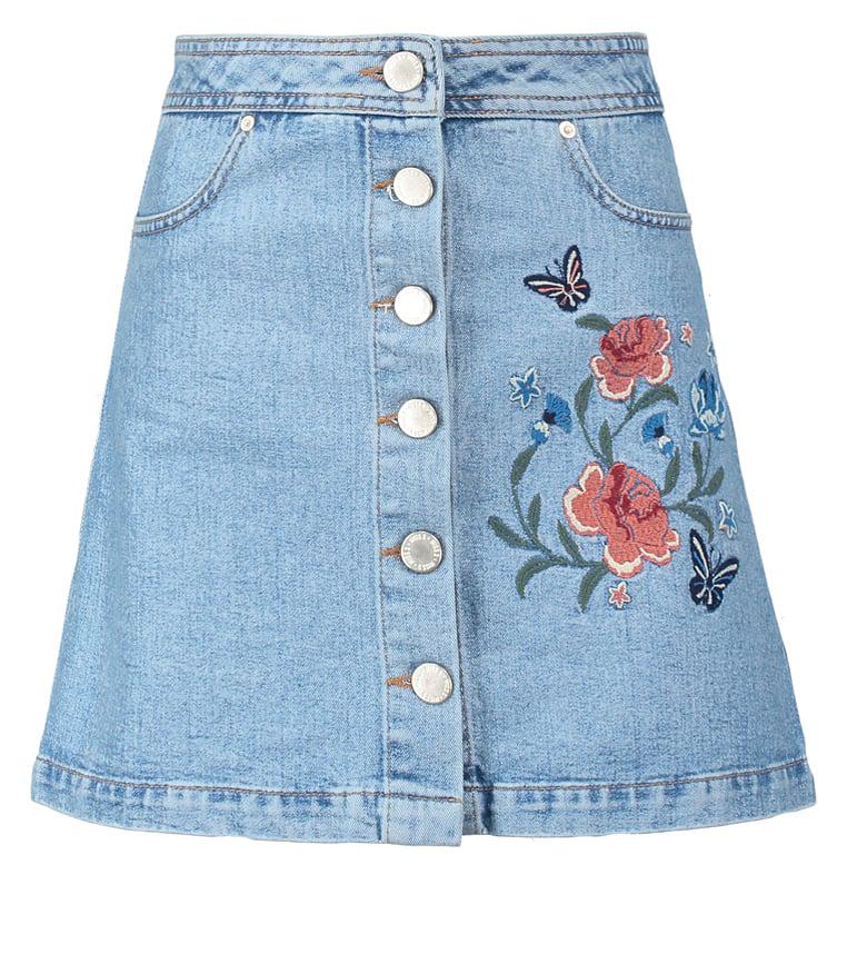 jeanskjol-blomma