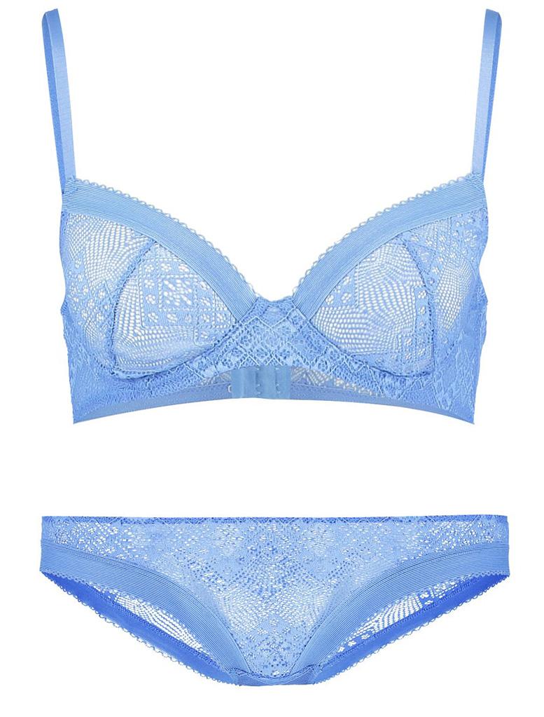 spets underkläder blå