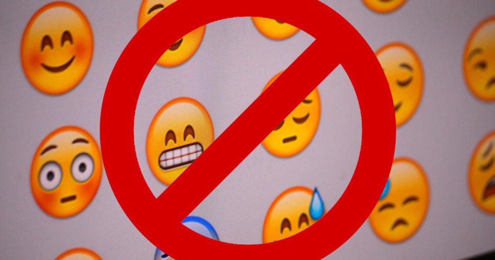 emoji förbjuden