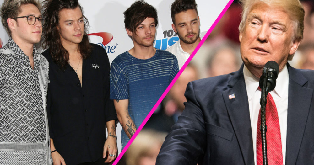 one direction donald trump