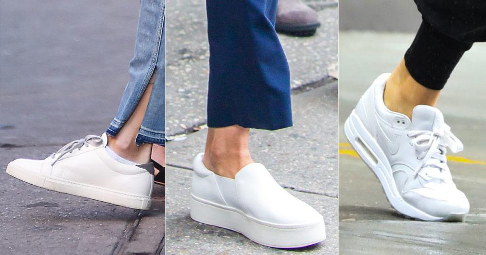 Så håller du dina vita sneakers rena