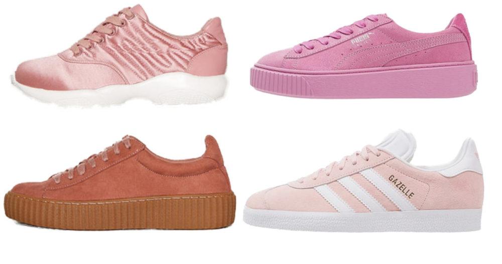 14 rosa sneakers du kommer älska