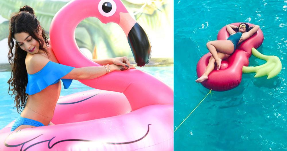 Här kan du köpa uppblåsbar flamingo (och andra figurer) till stranden