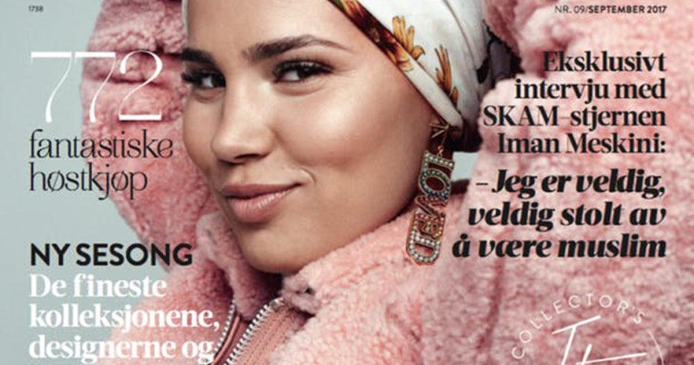 Skam-Sana blir första kvinnan med hijab på norskt modemagasin