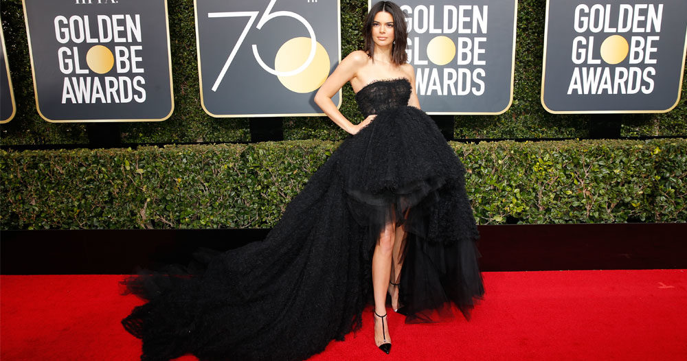 Kendall Jenners svar till de som kommenterade hennes akne under Golden Globe